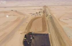 مشروع البحر الأحمر: إنجاز أول كيلومتر من شبكة طرقه البالغ طولها 80 كم