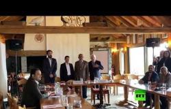 الأطراف اليمنية  على طاولة الحوار في سويسرا