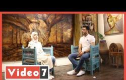 طالبة الثانوي المكرمة من الرئيس تحاور رسام خصص أعماله لدعم المرأة عبر تلفزيون اليوم السابع