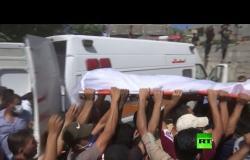 تشييع صيادين فلسطينيين قتلا برصاص البحرية المصرية