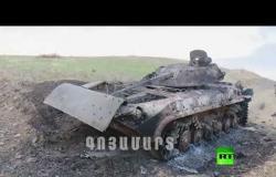 أرمينيا تنشر فيديو للمعدات العسكرية الأذربيجانية المدمرة