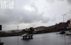 """الباحة.. أمطار رعدية ونشاط للرياح السطحية و""""المدني"""" يحذّر"""