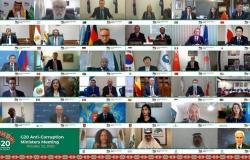 في بيانهم الختامي .. وزراء مكافحة الفساد بالعشرين يرحبون بمبادرة الرياض الرامية إلى إنشاء شبكة عمليات عالمية لسلطات إنفاذ القانون المعنية