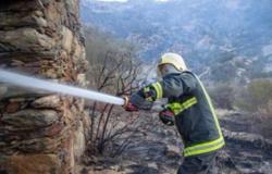 الدفاع المدني عن حريق #تنومة: الجهود تتواصل ومنعنا وصوله للمناطق السكنية ولا إصابات