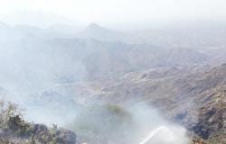 """فرق """"مدني فيفاء"""" تخمد حريقيْن.. دون تسجيل أي إصابات"""