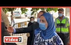 وزيرة التضامن تدلى بصوتها فى انتخابات مجلس النواب بالدقى