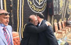 حسن راتب والطوخي في عزاء شقيقة الإعلامي محمد فودة
