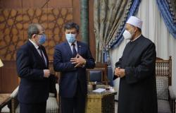 """الإمام الأكبر لـ""""سفير أوزباكستان"""": نخطط لإنشاء مركز البخاري بالأزهر لإحياء تراث المسلمين"""