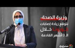 وزيرة الصحة: نتوقع زيادة إصابات كورونا خلال الـ ٣ أشهر القادمة