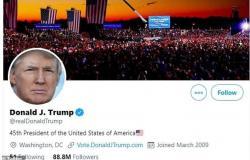 """بعد مغادرته البيت الأبيض.. هل يخسر ترامب """"العلامة الزرقاء"""" على تويتر؟"""