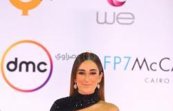 أمينة خليل تتألق بالأسود في ثالث أيام مهرجان القاهرة