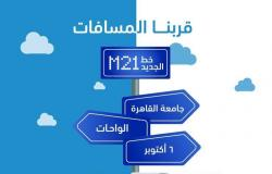 """تفاصيل خط مواصلات مصر """"جامعة القاهرة - أكتوبر"""" عبر طريق الواحات"""