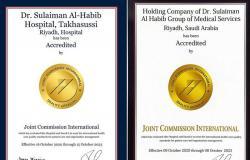 مستشفيا سليمان الحبيب بالعليا والتخصصي يحصلان على تجديد اعتماد الجودة العالميةJCI