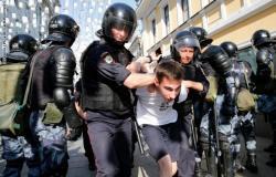 """""""بي بي سي"""" عن مظاهرات روسيا: الشرطة تعتقل 238 وتوقف في خدمات """"الإنترنت"""""""