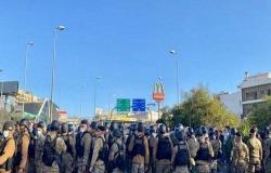 جرحى باشتباك مسلح في بيروت واحتجاجات قرب بعبدا .. بالفيديو