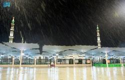 لليوم الثاني على التوالي.. أمطار الخير تواصل هطولها على المدينة المنورة
