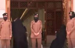 بالفيديو.. جهود حثيثة للمجندات في المسجد النبوي