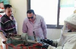 وكيل وزارة الزراعة بدمياط يتابع المنحل الإرشادي لمتابعة أعمال فرز العسل