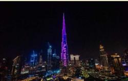 أنغامي تحتفل بطرح Higher Power على برج خليفة