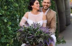 أول تعليق من محمد فراج بعد زواجه من بسنت شوقي (فيديو)