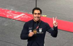 علي زهران يشارك ببطولة كأس العالم للجمباز بالدوحة