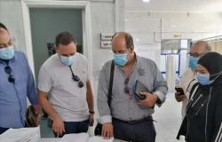 مكافحة العدوى بوزارة الصحة تتفقد مستشفى السويس العام