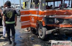 «صحة الاسكندرية»: نقل مصابي حادث تصادم برج العرب لـ3 مستشفيات.. والإصابات كسورح وجروح (صور)