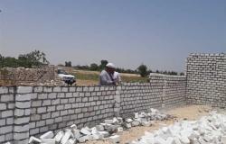إزالات فورية على أراضى أملاك الدولة بقنا في رابع أيام العيد