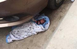 العثور على طفلة حديثة الولادة بجوار كوبري عرابي بشبرا الخيمة