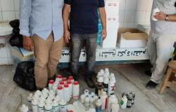 ضبط 400 عبوة بيطرية فاسدة في مخزن أدوية بدون ترخيص بالحامول