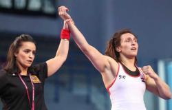 أولمبياد طوكيو 2020.. سمر حمزة تودع بعد الهزيمة من بطلة روسيا في المصارعة