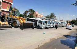 رئيس مدينة بئر العبد يشهد اصطفاف المعدات استعدادا لموسم الأمطار والسيول