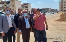 محافظ بورسعيد يشيد بأعمال تطوير شارع 23 ديسمبر