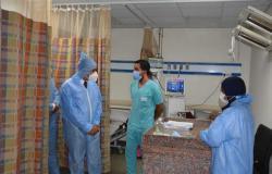 نائب محافظ المنيا يتفقد قسم العزل بمستشفى الحميات والصدر ومركز تلقي اللقاح بالكورنيش
