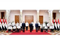السيسي: أبطال مصر البارالمبيين أثبتوا أن الإرادة والعزيمة الصلبة قادرة على قهر الصعاب