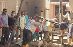جولة لنائب محافظ بني سويف لمتابعة مشروعات «حياة كريمة» بقرى ناصر