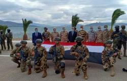عناصر من القوات الخاصة المصرية تشارك في التدريب المشترك الرباعي «هرقل 21» باليونان