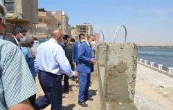 محافظ سوهاج يتفقد تطوير كورنيش النيل بالمراغة بتكلفة 6 ملايين و230 ألف جنيه