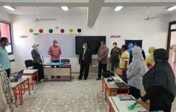 وكيل تعليم بني سويف يتفقد المدرسة المصرية اليابانية