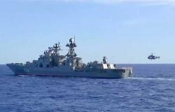 مناورات بحرية مشتركة بين روسيا والصين في بحر اليابان