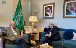 السفير المعلمي يلتقي بكبير مستشاري الوفد الأمريكي الدائم لدى الأمم المتحدة