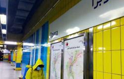 مترو الأنفاق يواصل تعقيم المحطات ضد فيروس كورونا