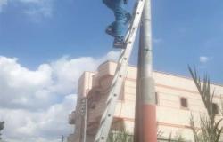 حملات للنظافة وصيانة كشافات الإنارة في مدن كفر الشيخ