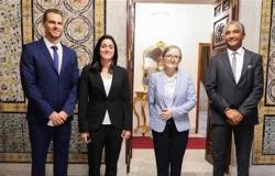 رئيسة الحكومة التونسية تستقبل أنس جابر لتهنئتها على إنجازاتها العالمية