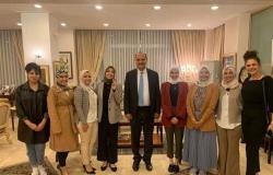 سفير مصر في كوريا الجنوبية يلتقي عددًا من الدارسين المصريين