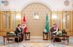 ولي العهد يلتقي رئيسة الحكومة التونسية