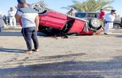 حادث مأساوي على طريق الكريمات.. مصرع طفلين وإصابة 4 من أسرة واحدة في انقلاب ملاكي