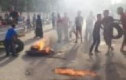 بالصور| الأهالي يقطعون طريق الإبراهيمية - ديرب نجم احتجاجا على انقطاع الكهرباء