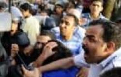 """معتصمو وزارة الثقافة يطردون """"مؤيدي مبارك"""" من الاعتصام"""