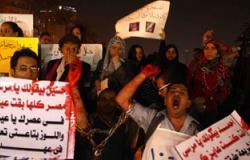 """مسيرة لأهالى بلقاس والحفير بالدقهلية تحت شعار """"ارحل"""""""